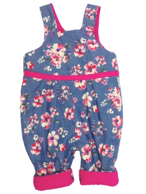 Chloe Reversible Dungarees (avail. 0 - 3yrs)